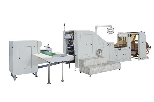 Roll Feeding Square Bottom Paper Bag Making Machine