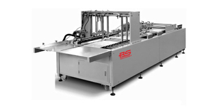 RS-1100CS Semi automatic sheet feeding paper bag tube making machine